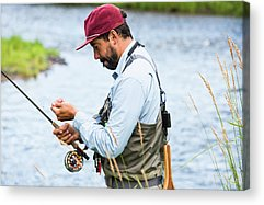 Colorado Fly Fishing River Acrylic Prints