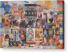 Rock And Roll Jimmy Page Acrylic Prints
