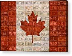 Canadian Flag Acrylic Prints
