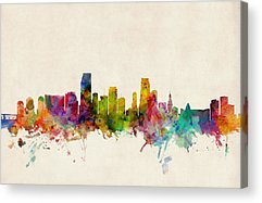 Miami Skyline Acrylic Prints