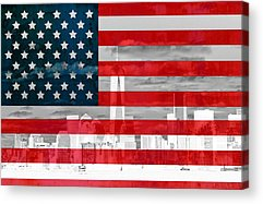 Star Spangled Banner Mixed Media Acrylic Prints