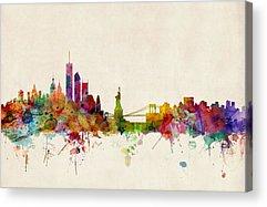 New York Skyline Acrylic Prints