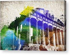 Zeus Mixed Media Acrylic Prints