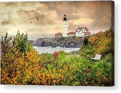 Coastal Maine Digital Art Acrylic Prints