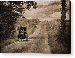 Horse And Buggy Acrylic Prints