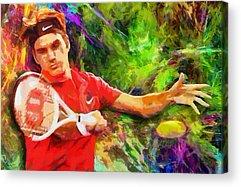 Australian Open Digital Art Acrylic Prints