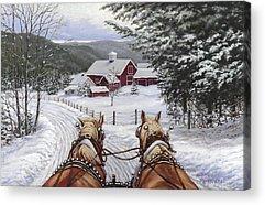 Snow Acrylic Prints