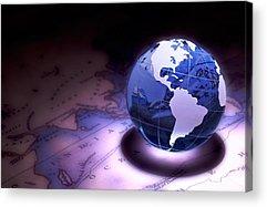 Planet Map Acrylic Prints