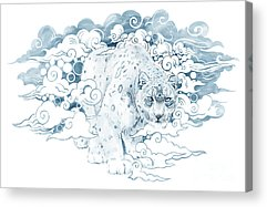 Snow Leopard Acrylic Prints