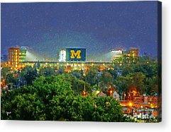 University Of Michigan Acrylic Prints
