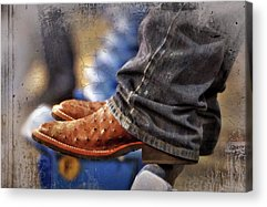 Ostrich Boots Acrylic Prints