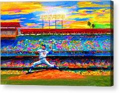 Dodgers Mixed Media Acrylic Prints