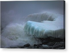 Lake Superior Stoney Point Ice Splash Storm Nature North Shore Frozen Acrylic Prints