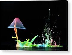 Abstract Fountain Acrylic Prints