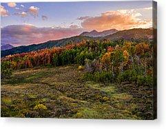Mountain Sunset Acrylic Prints