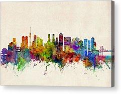 Tokyo Skyline Acrylic Prints