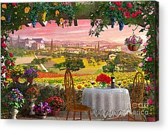 Vineyard Digital Art Acrylic Prints