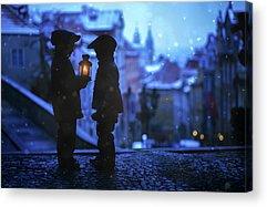 City Lights Acrylic Prints