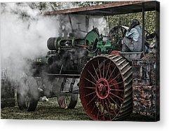 Steam Tractor Acrylic Prints
