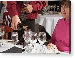 Women Tasting Wine Acrylic Prints