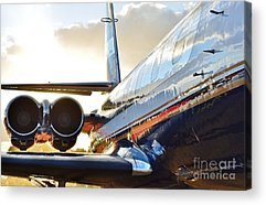 Jetliner Chrome Photographs Acrylic Prints