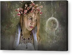 Flower Pink Fairy Child Photographs Acrylic Prints