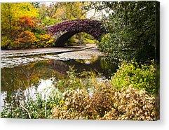 Bridge Fall Colors Acrylic Prints