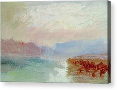 Abstract Beach Landscape Drawings Acrylic Prints