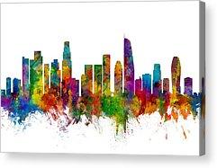 Los Angeles Skyline Acrylic Prints