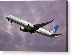United Airlines Acrylic Prints