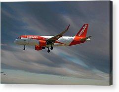 Airbus A320-214 Acrylic Prints