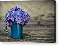 Antique Flowers Vase Acrylic Prints