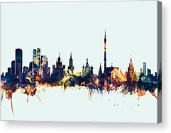 Moscow Skyline Acrylic Prints