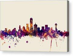 Dallas Skyline Acrylic Prints