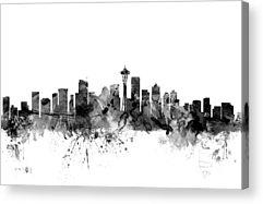 Seattle Skyline Acrylic Prints