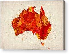 Map Of Australia Acrylic Prints