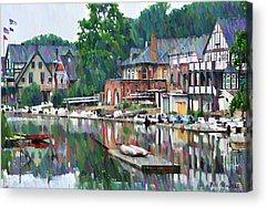 Phillies Digital Art Acrylic Prints