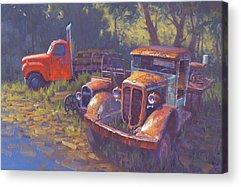 Rusty Old Car Acrylic Prints
