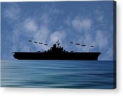 Warship Acrylic Prints