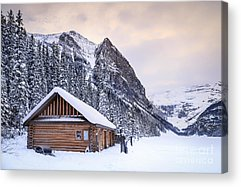 Log Cabins Acrylic Prints