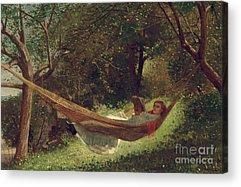 Girl In Landscape Acrylic Prints