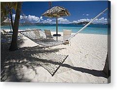 Umbrellas On The Beach Acrylic Prints