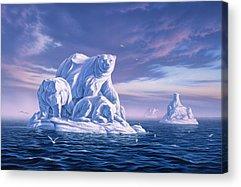 North Pole Paintings Acrylic Prints