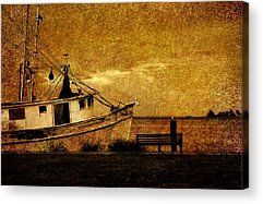 Boats In Harbor Acrylic Prints