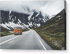 Volkswagen Bus Photographs Acrylic Prints