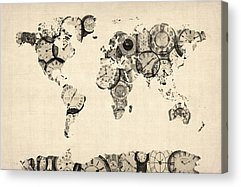 Antique Map Acrylic Prints