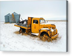 Old Trucks Photographs Acrylic Prints