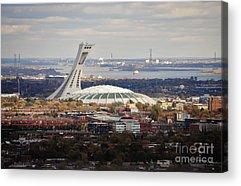 Stadium Scene Paintings Acrylic Prints