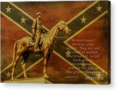 Statue Of Confederate Soldier Acrylic Prints