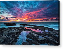 Serene Sunset Acrylic Print by Robert Bynum
